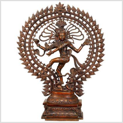 Nataraja Shiva Messing braun