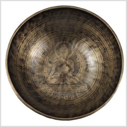 Beckenklangschale Medizinbuddha Gravur Oben