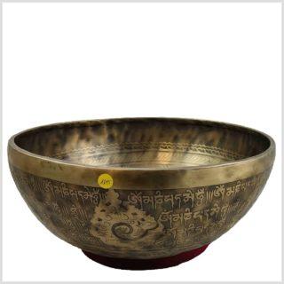 Beckenklangschale Medizinbuddha Gravur Seitenansicht