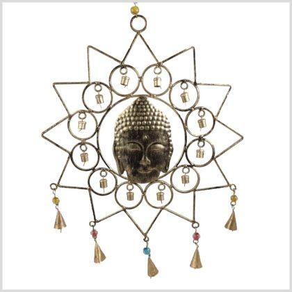 Windspiel Buddha Kopf Mandala