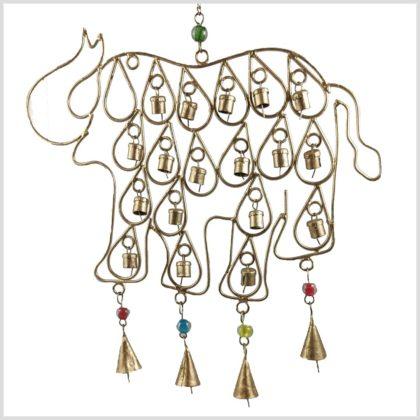 Windspiel Elefanten mit Glocken Vorne