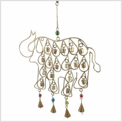 Windspiel Elefanten mit Glocken Seitenansicht