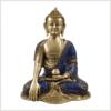 Erdender Buddha Lapislazuli blaue Steine Vorderseite