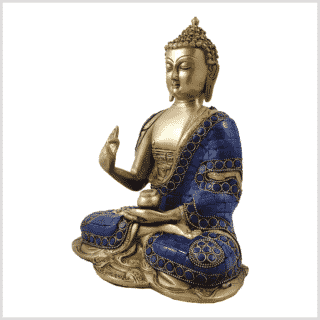 Vitarka Mudra Lehrender Buddha Lapislazuli Art 25cm Seite links