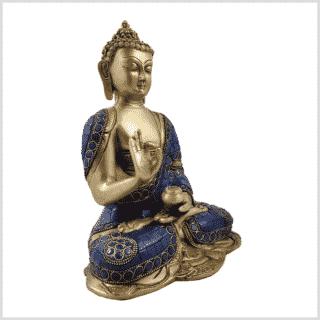 Vitarka Mudra Lehrender Buddha Lapislazuli Art 25cm Seite Rechts
