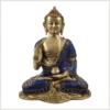 Vitarka Mudra Lehrender Buddha Lapislazuli Art 25cm Vorderansicht