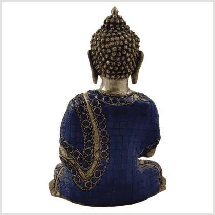 Erleuchtete Buddha 25cm Lapislazuli Art Rückansicht