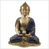 Erleuchtete Buddha 25cm Lapislazuli Art Seitenansicht Vorderansicht