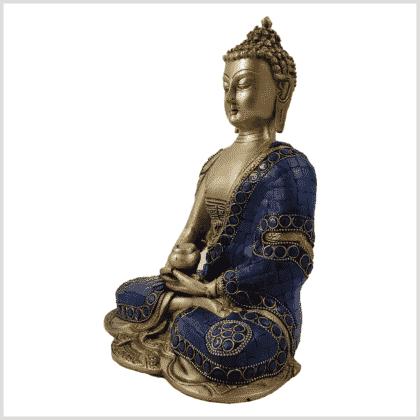 Erleuchtete Buddha 25cm Lapislazuli Art Seitenansicht links