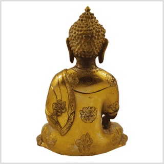 Erdender Buddha Ashtamangala Goldgrau Hinten