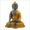 Erdender Buddha Ashtamangala Goldgrau Vorderansicht