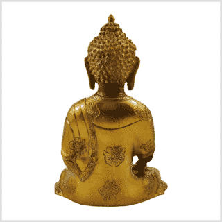 Lehrender Buddha mintgrün gold 2,8kg hinten