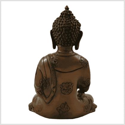 Erdender Buddha Ashtamangala 2,8kg braungrün Rücken