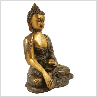 Erdender Buddha Ashtamangala 2,8kg braungrün Seitenansicht rechts
