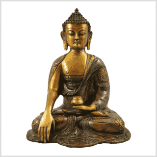 Erdender Buddha Ashtamangala 2,8kg braungrün Vorderansicht