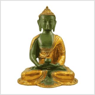 Erleuchtete Buddha Asthamangala 2,8kg mintgrün Vorderansicht