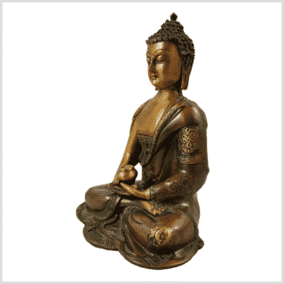 Erleuchtete Buddha Asthamangala Braungrün links
