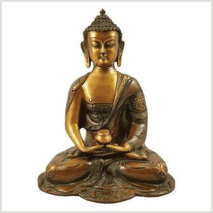 Erleuchtete Buddha Asthamangala Braungrün Vorderansicht