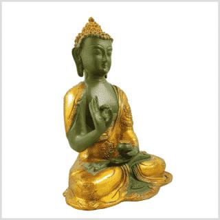 Lehrender Buddha mintgrün gold 2,8kg Seitenansicht rechts