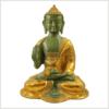 Lehrender Buddha mintgrün gold 2,8kg Vorderansicht