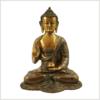 Lehrender Buddha Asthamangala braungrün Vorderansicht