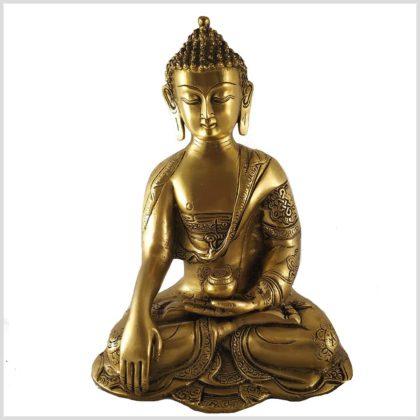Erdende Buddha Asthamangala 3kg Messing Vorderansicht