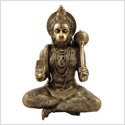 Hanuman Messing 29cm Vorderansicht