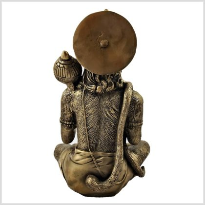 Hanuman Messing 29cm Rücken