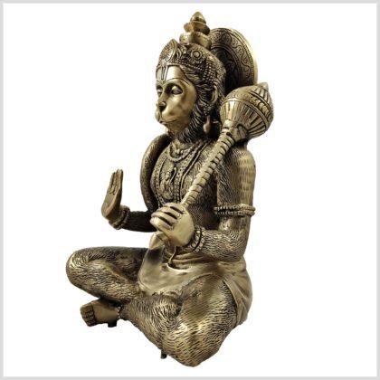 Hanuman Messing 29cm Seitenansicht links