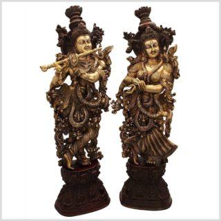 Radha Krishna Messing rotgold 76cm Paar