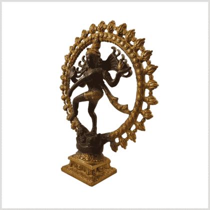 Tanzender Shiva 2,2 Braungold 2,2kg Seitenansicht links