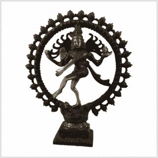 Tanzende Shiva 2,2kg Messing rotgrün Vorderansicht