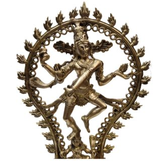 Tanzender Shiva Tantra Stil Messing Nahansicht