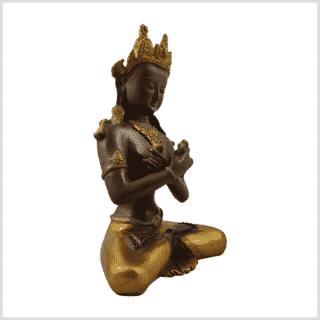 Vajradhara 5,2kg Messing Kaffeebraun Gold Seitenansicht rechts