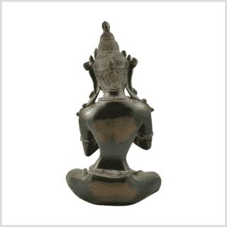 Vajradhara 5,2kg Messing Grünbraun Pattina Rücken