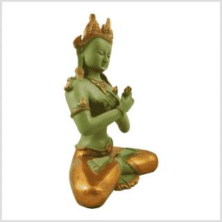 Vajradhara 5,2kg Messing Mintgrün Seitenansicht rechts