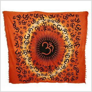 Wandtuch Aum Zeichen Orange Vollansicht