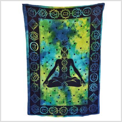 Chakra Wandbehang grünblau