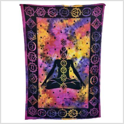 Chakra Wandbehang violett gelb