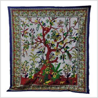 Wandbehang Lebensbaum Blauweiß