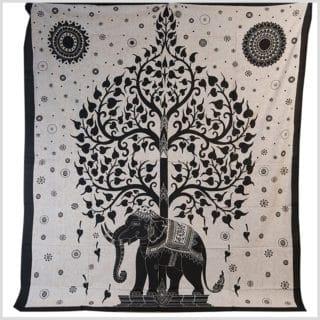 Wandtuch Lebensbaum mit Elefant