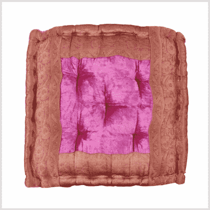 Meditationskissen Yogakissen Pink Draufsicht