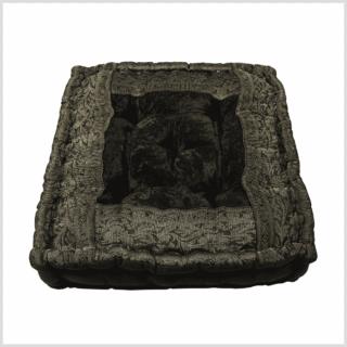 Meditationskissen Yogakissen schwarz 40cm Draufsicht
