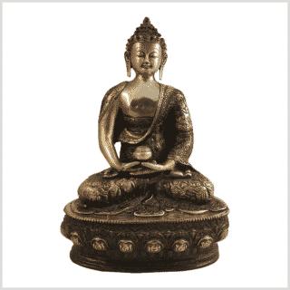 Erleuchtete Buddha 33cm Messing rotgold Vorderansicht