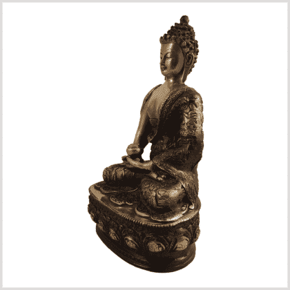 Erleuchtete Buddha 33cm Messing rotgold Seite links