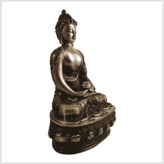 Erleuchtete Buddha 33cm Messing rotgold Seite rechts