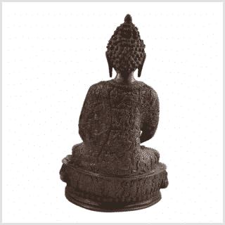 Erleuchtete Buddha 33cm Messing rotgold Rücken