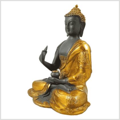 Ashtamangala Buddha Lehrender Buddha 2,8kg graugold Seitenansicht links