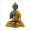 Ashtamangala Buddha Lehrender Buddha 2,8kg graugold Vorderansicht