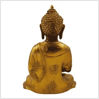 Erleuchteter Buddha Ashtamangala 2,8kg Messing graugold Rücken